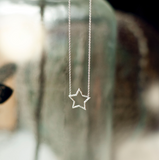 Estella Star Necklace - Silver