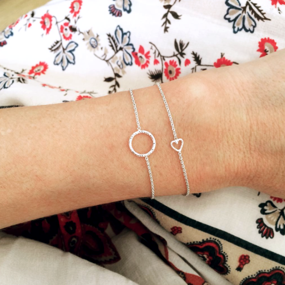 Protective Circle Bracelet - Silver
