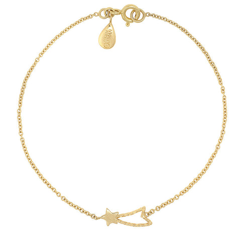 Shooting Star bracelet in gold.