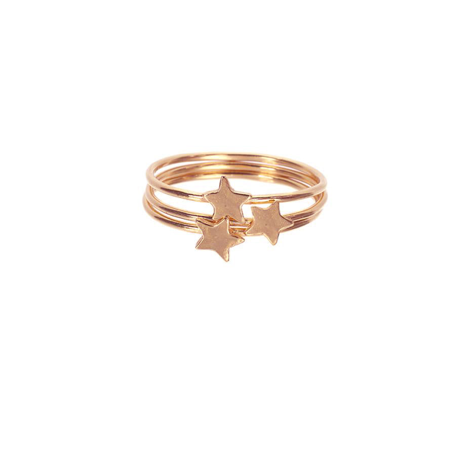 Star Stacking Rings - Rose Gold