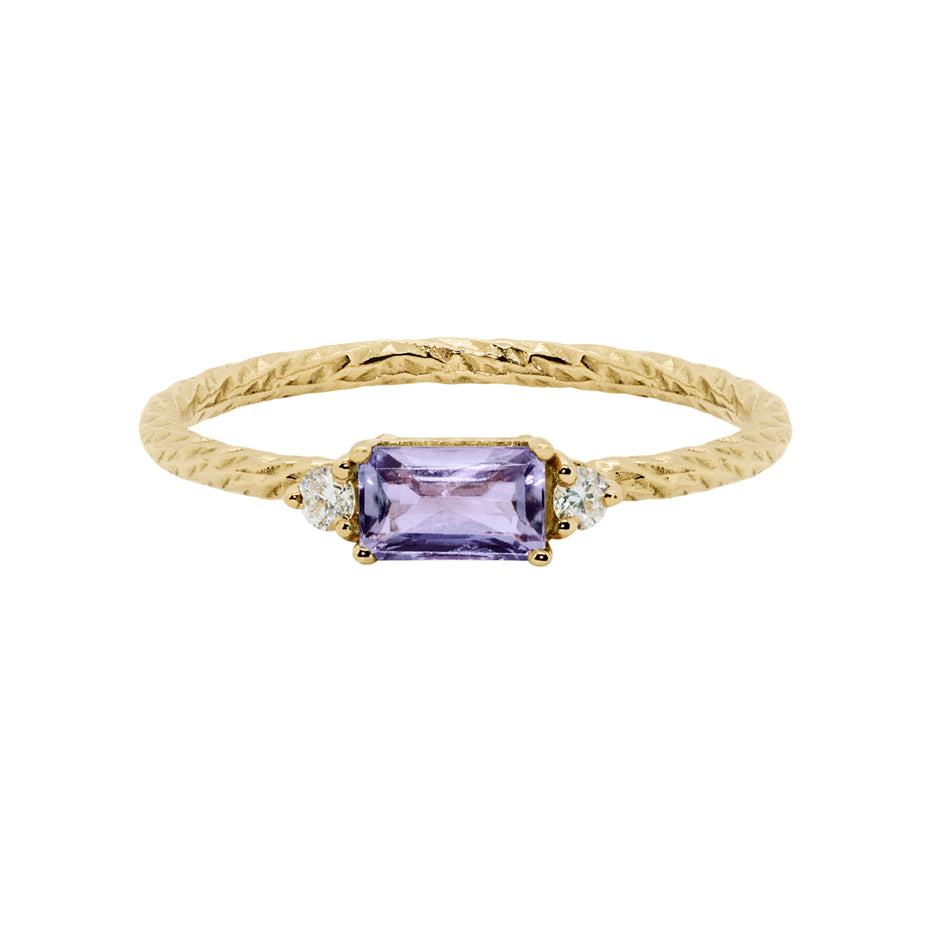 Trilogy Birthstone Ring - February