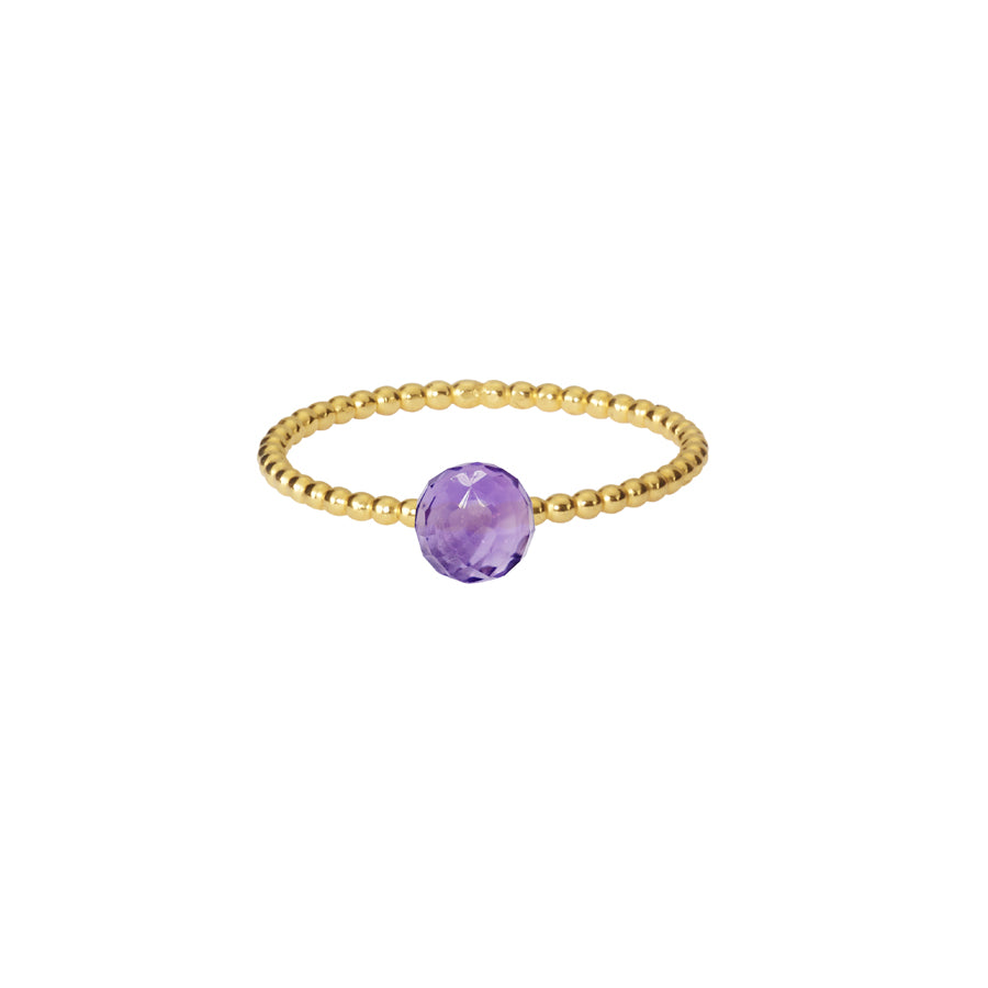 Amethyst Stacking Ring - Gold