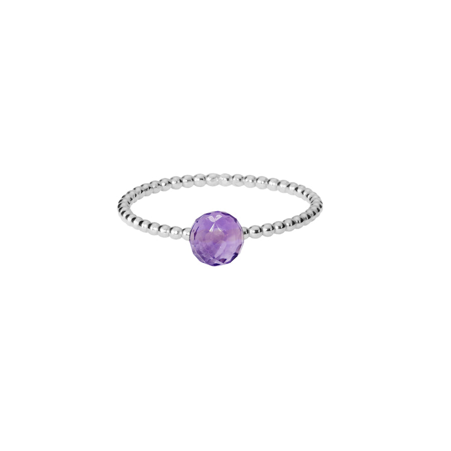 Amethyst Stacking Ring - Silver