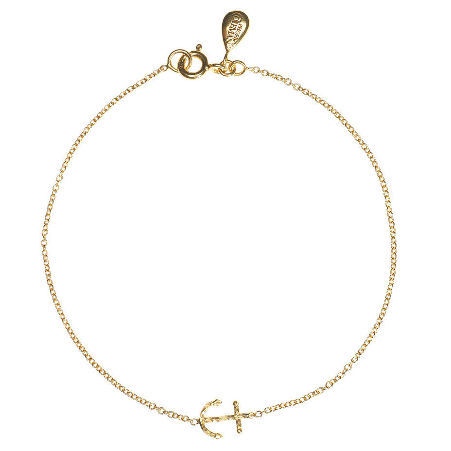 Anchors Away bracelet in gold.