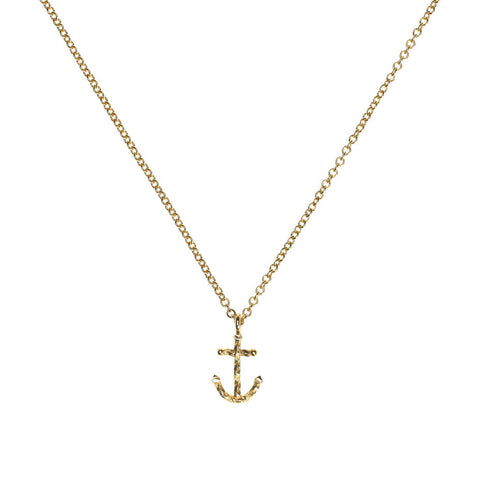 Anchors Away necklace in gold.