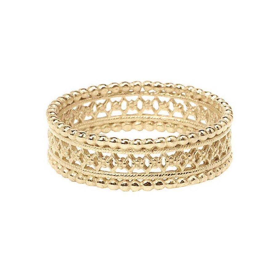 It is a picture of Antique Lace Wedding Band