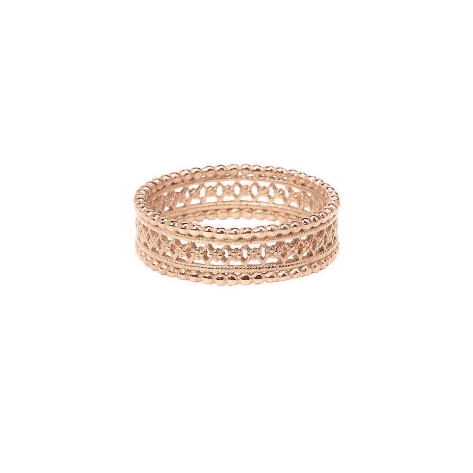 Antique Lace Ring - Rose Gold