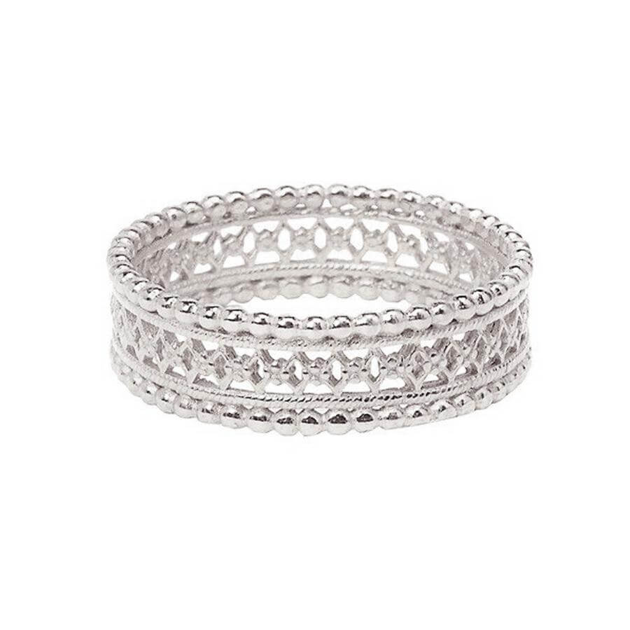 Antique Lace Wedding Band