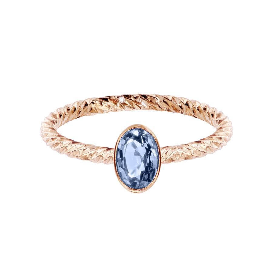 Aphrodite Engagement Ring - Bezel Set Blue Sapphire
