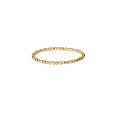 Beaded Band Ring - Gold