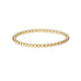 The Beaded Wedding Band in 18ct yellow gold.