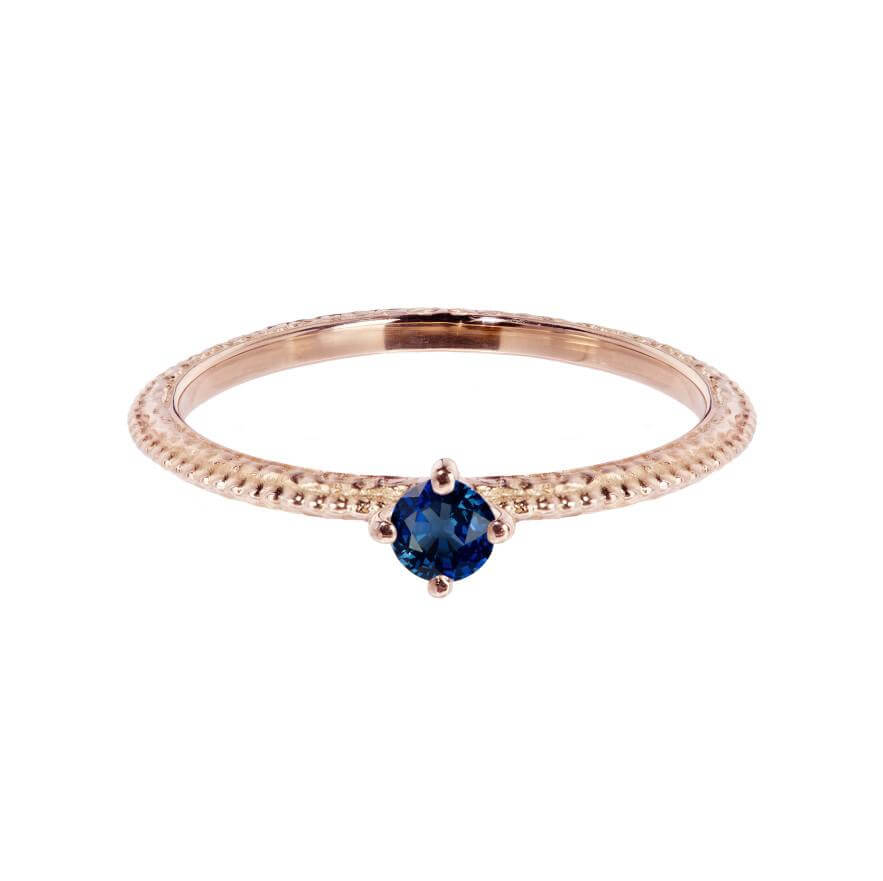 Tender Love Engagement Ring - Royal Blue Sapphire