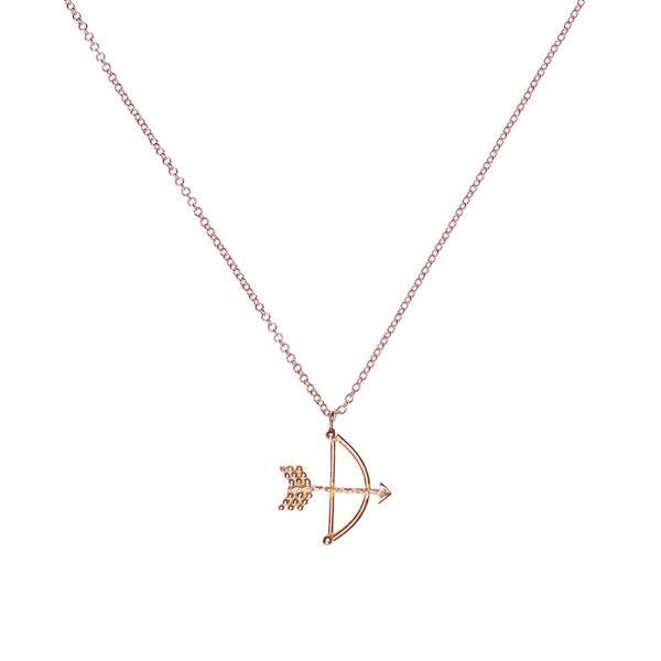 Bow and Arrow Necklace - Rose Gold