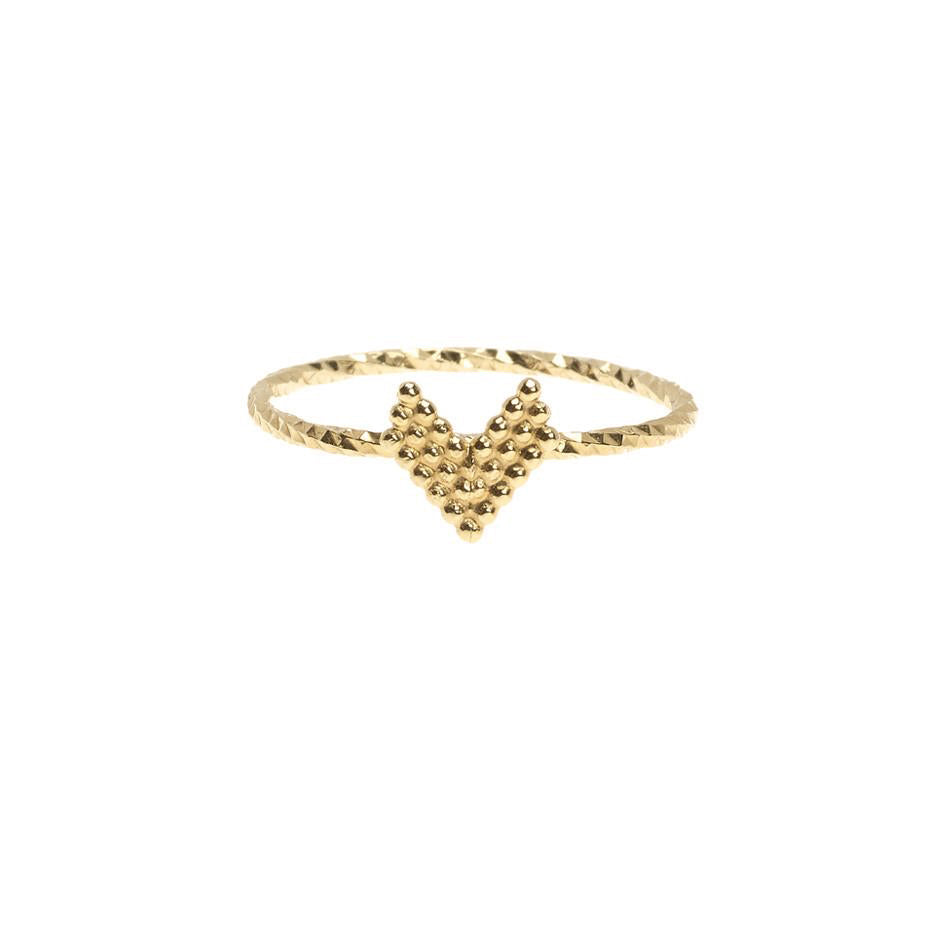 Braveheart Chevron Arrow Head Ring - Gold