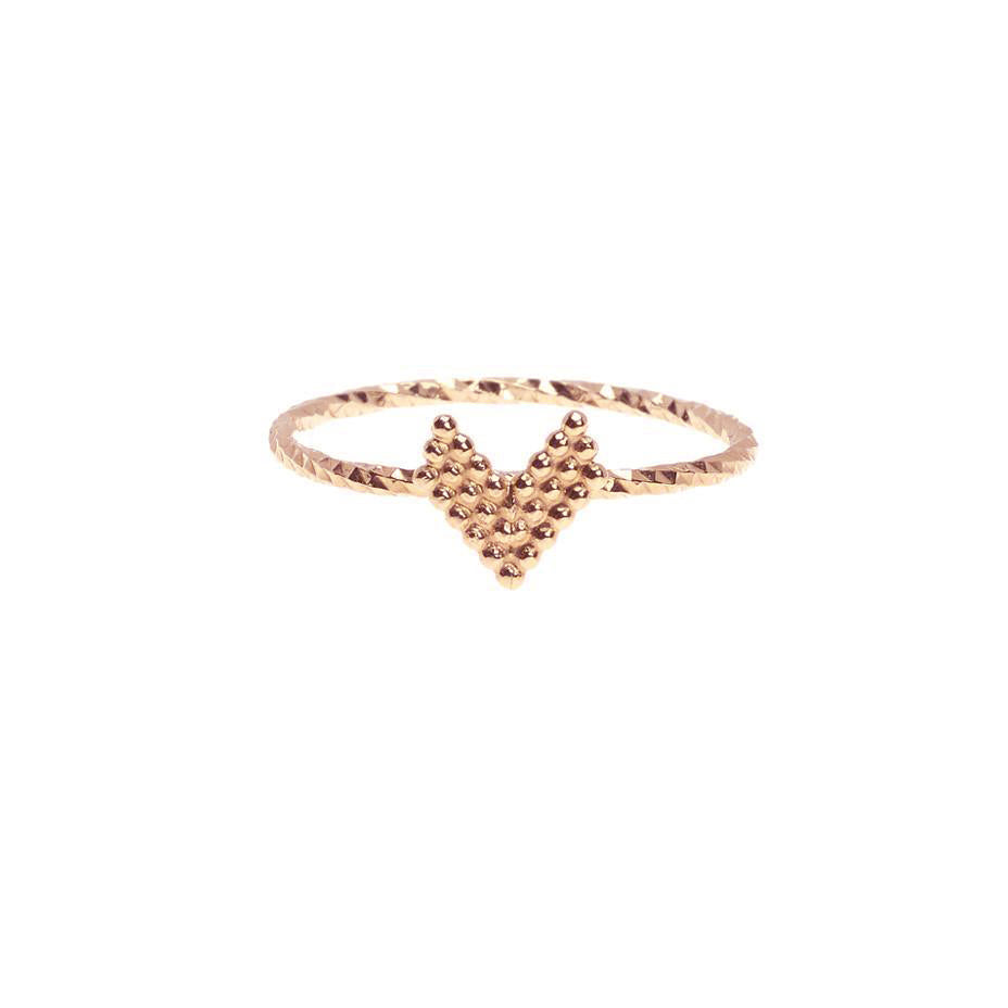 Braveheart Chevron Arrow Head Ring - Rose Gold