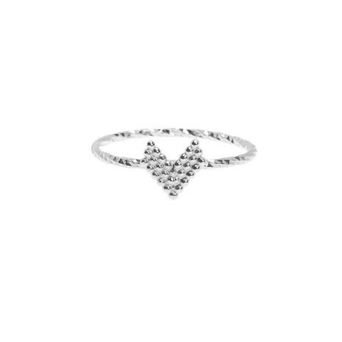 Braveheart Chevron Arrow Head Ring - Silver