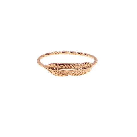 Take Flight Feather Ring - Rose Gold