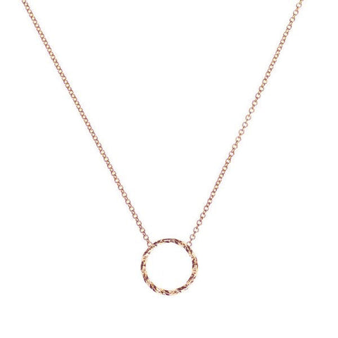 Protective Circle Necklace - Rose Gold