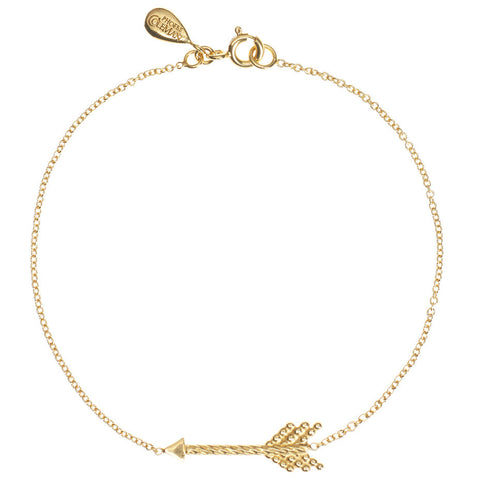 Warrior Arrow bracelet in gold.