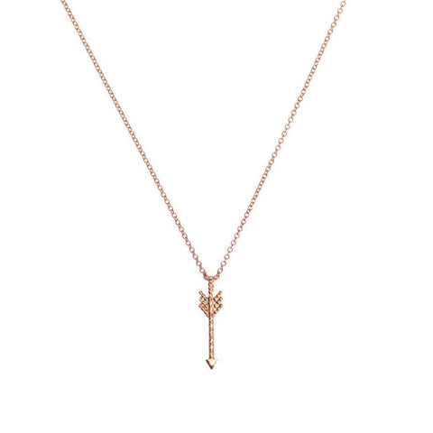 Warrior Arrow Necklace - Rose Gold