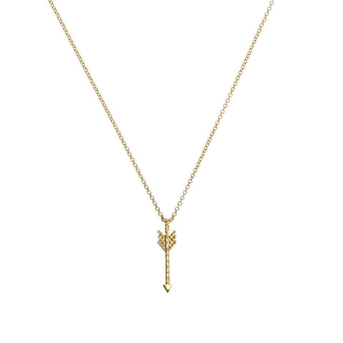Warrior Arrow necklace in gold.