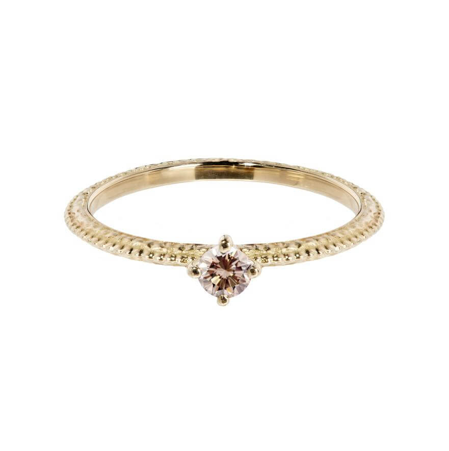 Tender Love Engagement Ring - Champagne Diamond