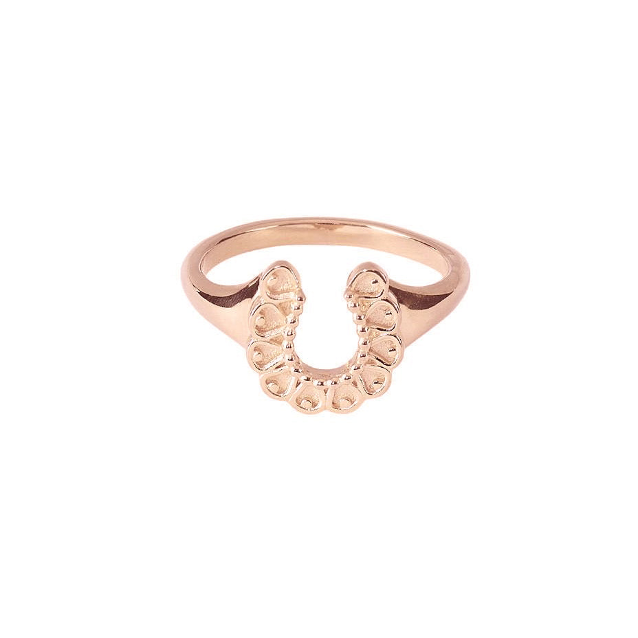 SALE Darling Horseshoe Ring - Rose Gold