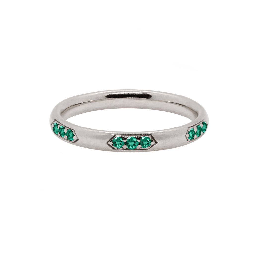 Emerald Celeste Wedding Band