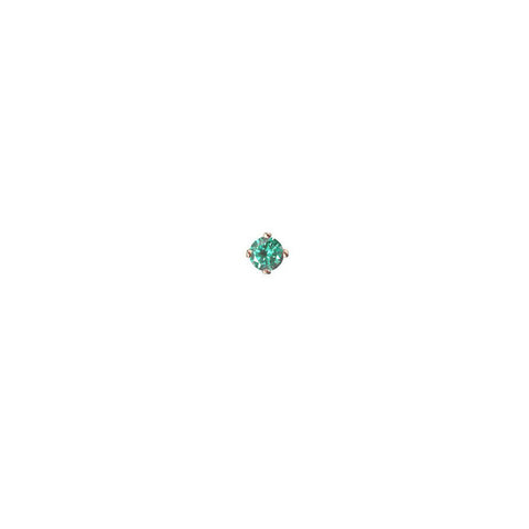 Emerald Micro Stud Earring - 9ct gold