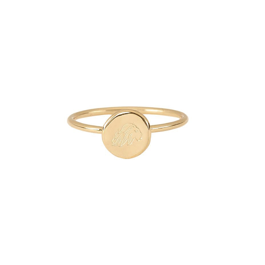 Energy Lion Stacking Ring - Gold
