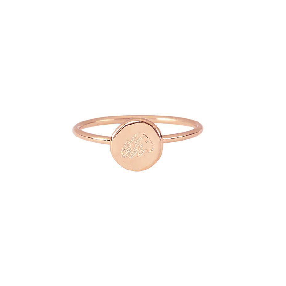 Energy Lion Stacking Ring - Rose Gold