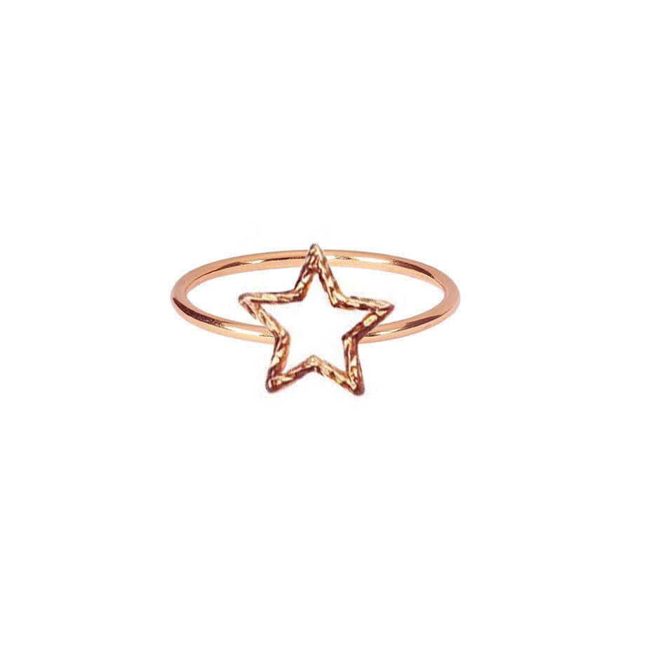 Estella Star Ring - Rose Gold