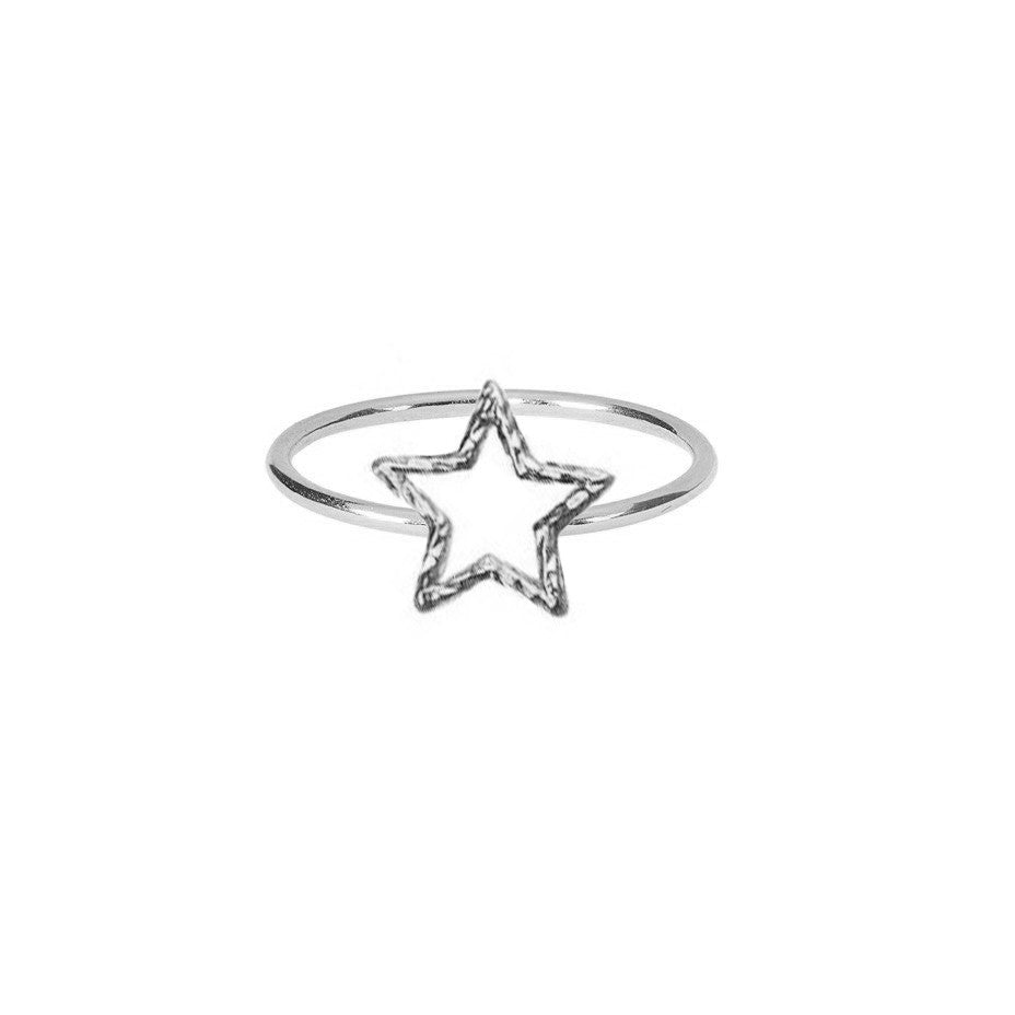 Estella Star Ring - Silver