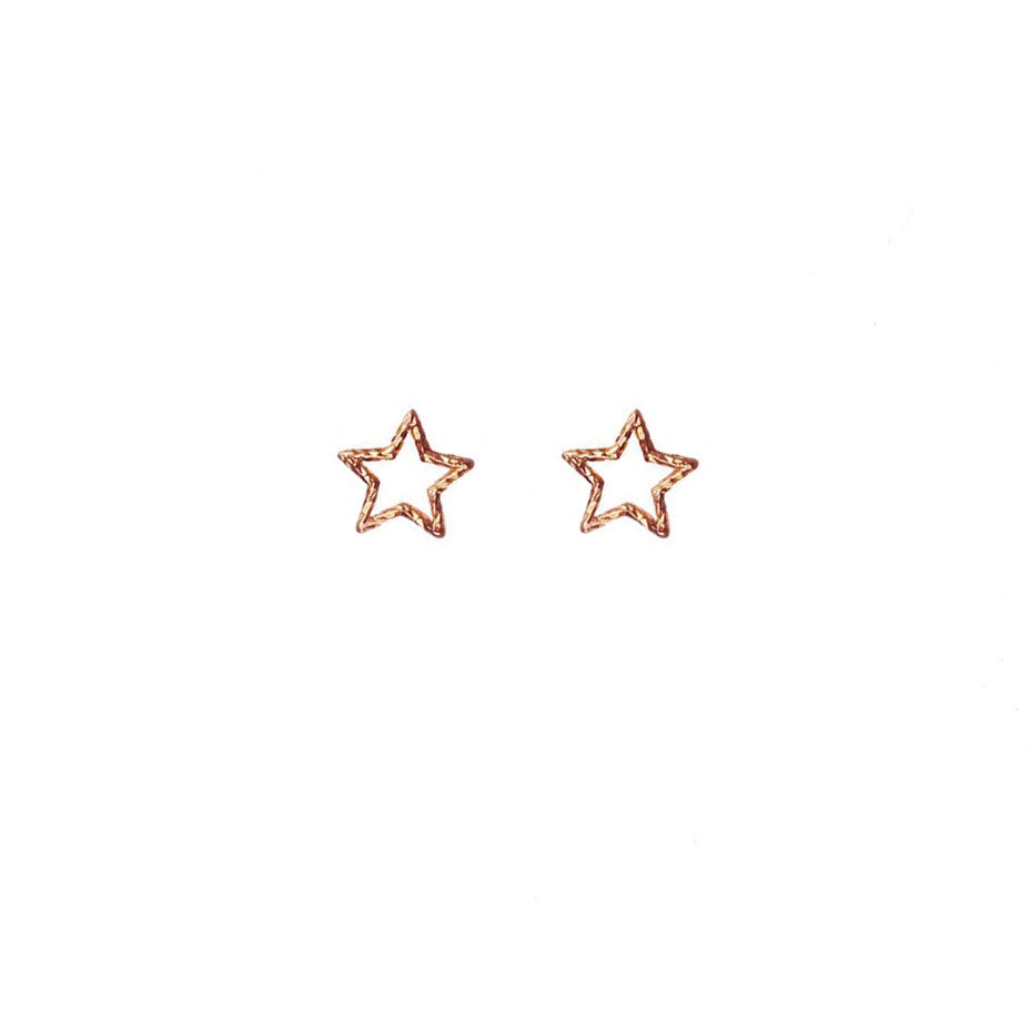 Estella Star Stud Earrings - Rose Gold