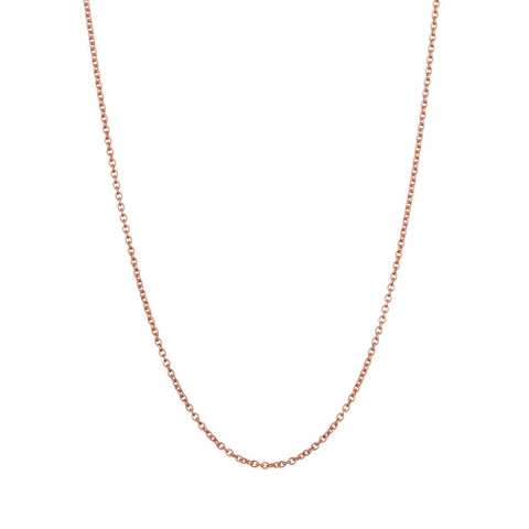 Whisper Trace Chain in rose gold, our finest chain with oval links.