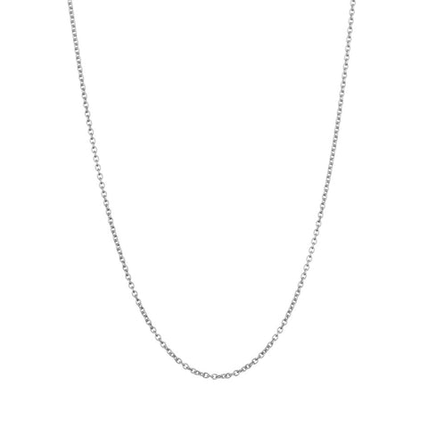 Whisper Trace Chain in silver, our finest chain with oval links.