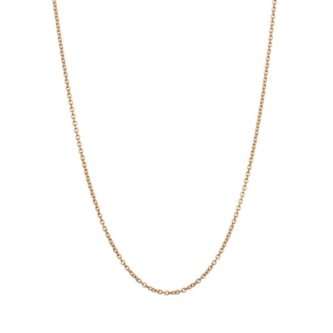 Whisper Trace Chain in gold, our finest chain with oval links.
