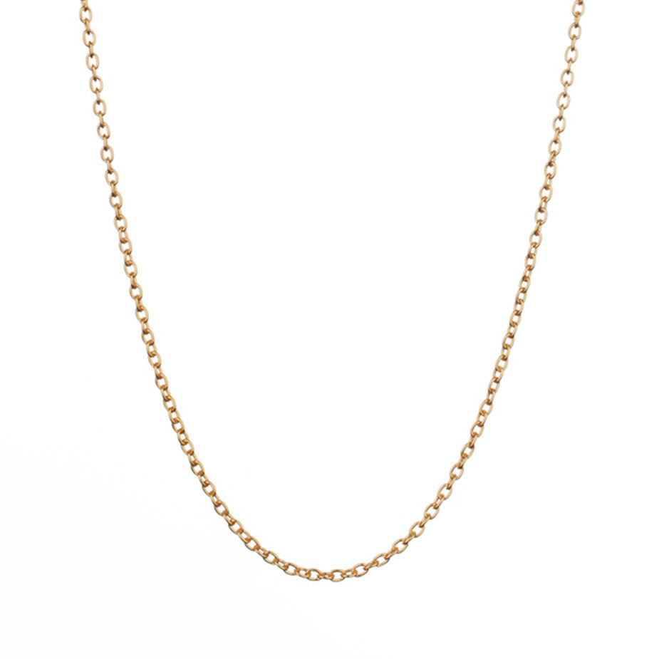 The Eternal Rolo Chain in gold, made from a weightier chain with oval links.