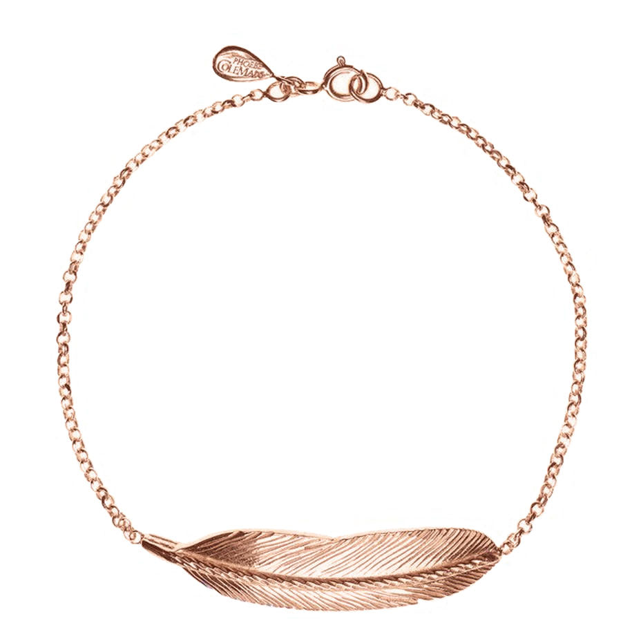 Large Sacred Feather Bracelet - Rose Gold