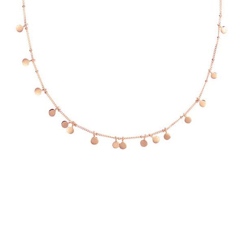 Fortune Teller Coin Necklace - Rose Gold