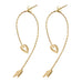 Arrow Of Love Split Hoop Earrings - Gold