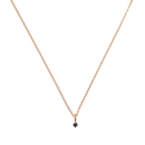 Galaxy Blue Diamond Necklace - Rose Gold