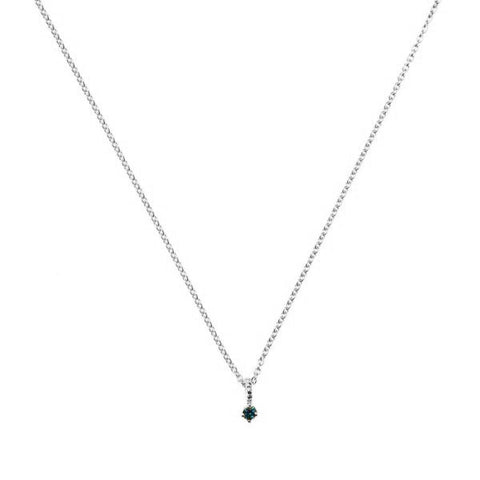 Galaxy Blue Diamond Necklace - Silver