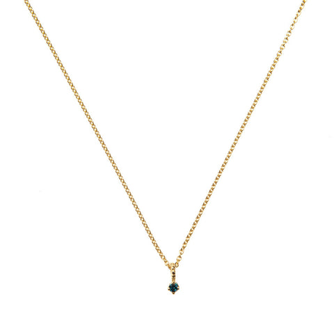 Galaxy Blue Diamond necklace in gold.