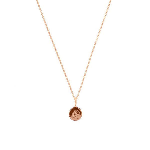 Energy And Time Lion And Eagle Reversible Necklace - Rose Gold