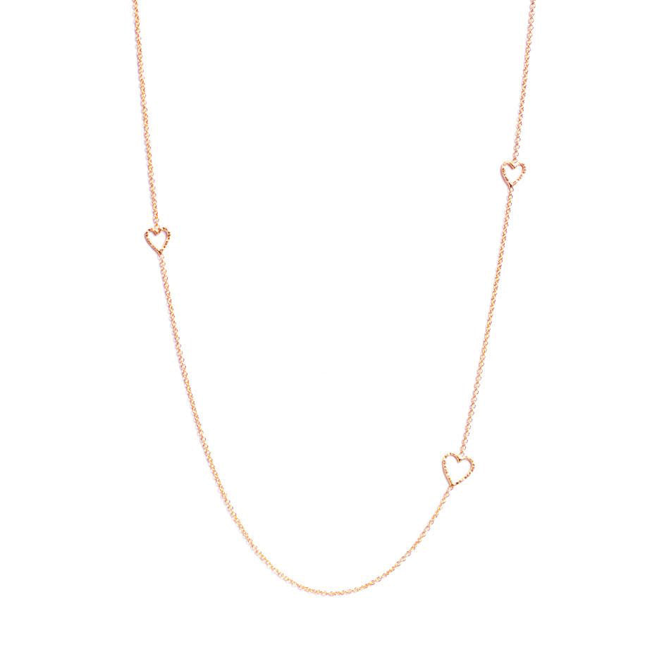 Follow Your Heart Long Necklace - Rose Gold