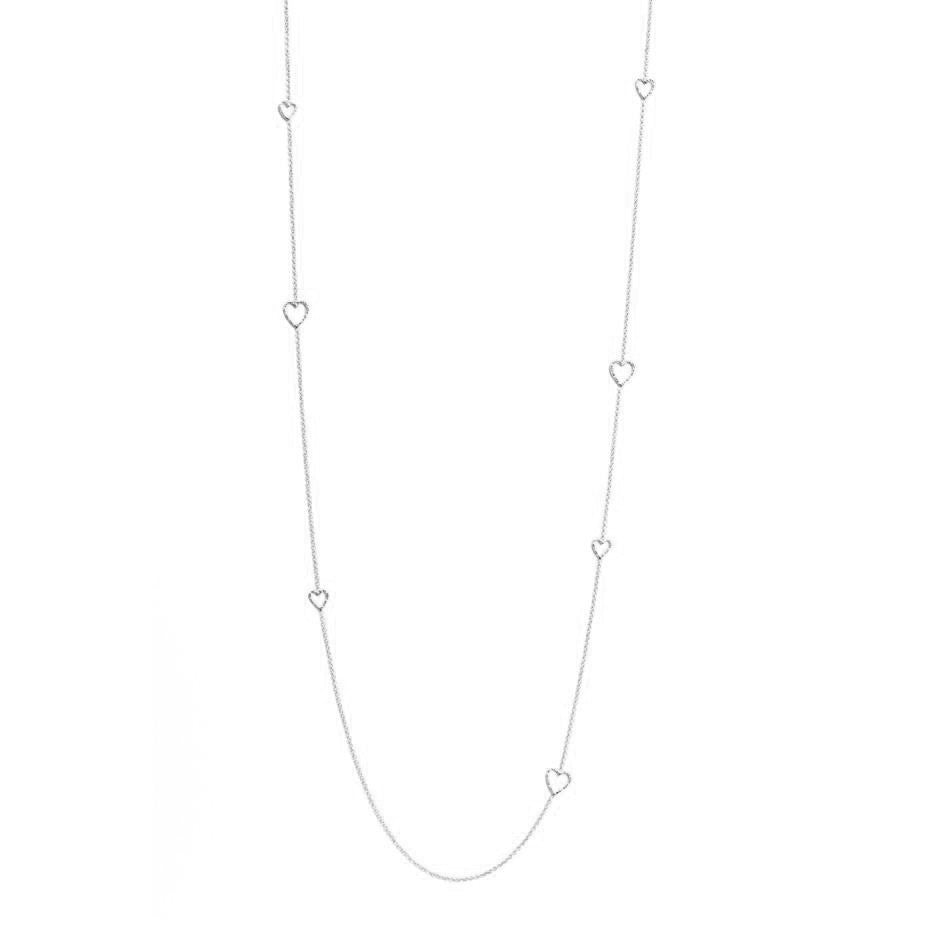 Follow Your Heart Long Necklace - Silver