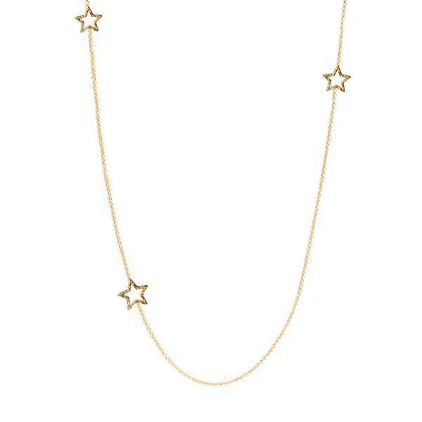 Estella Long Star Necklace - Gold