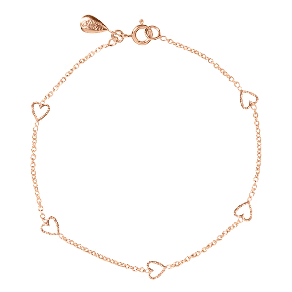 Loop Of Love Heart Bracelet - Rose Gold