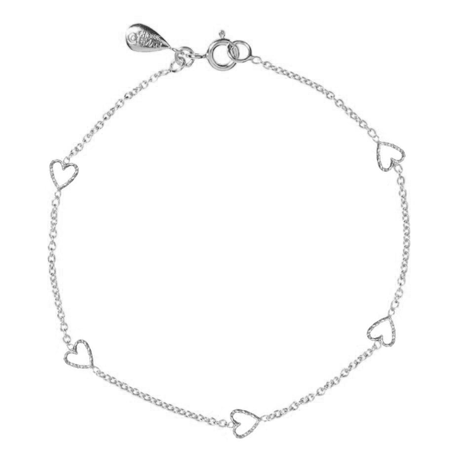Loop Of Love Heart Bracelet - Silver